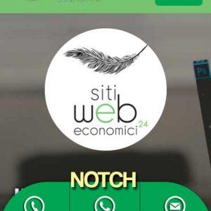 Realizzazione siti internet convenienti e siti web economici, low cost ma di qualità in tutta Italia ed Estero | immagine opzione extra notch